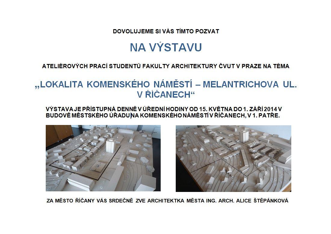 Vystava Architektonickych Praci Studentu Cvut Ricany Oficialni